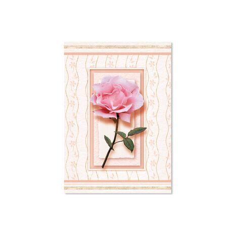 Greeting Card (One Pink Rose)