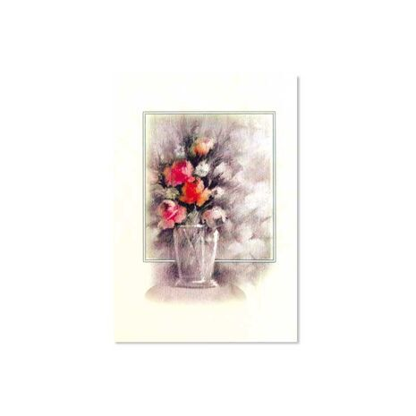 Greeting Card (Flower Paint in Vase)