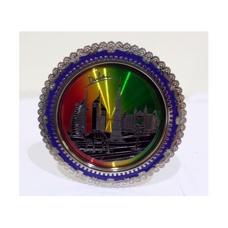 Plate With Famous Buildings in Dubai