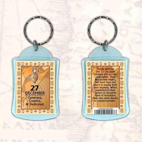 Birthday Gift Keyrings Zodiac Star Sign Keyrings 27 Dec Capricorn