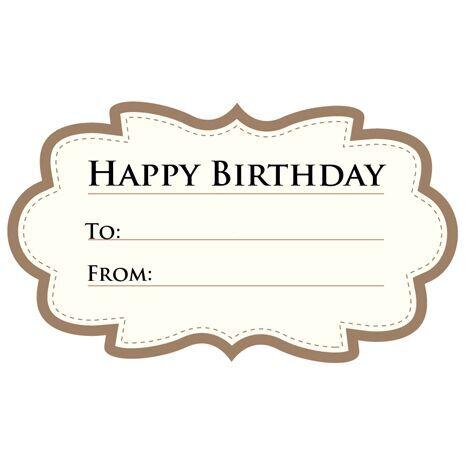 Birthday Gift Tag BGT 0002