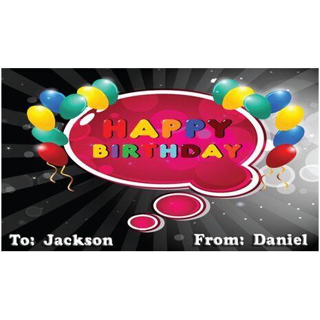 Birthday Gift Tag BGT 0008