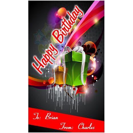 Birthday Gift Tag BGT 0013