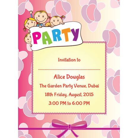 Kids Party Invitation 001