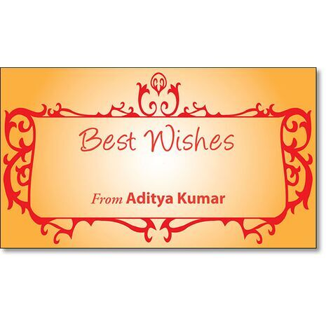 Best Wishes Gift Tag BW GT 0702
