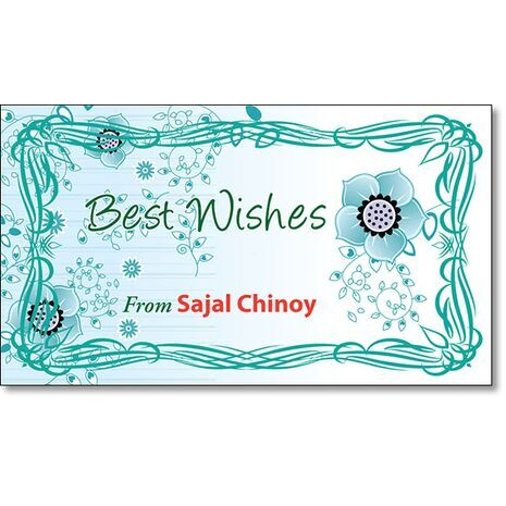 Best Wishes Gift Tag BW GT 0703