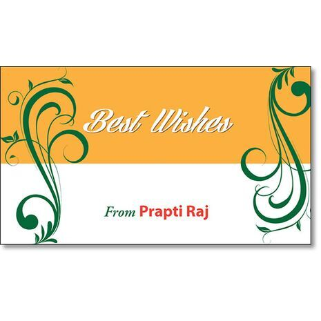 Best Wishes Gift Tag BW GT 0712