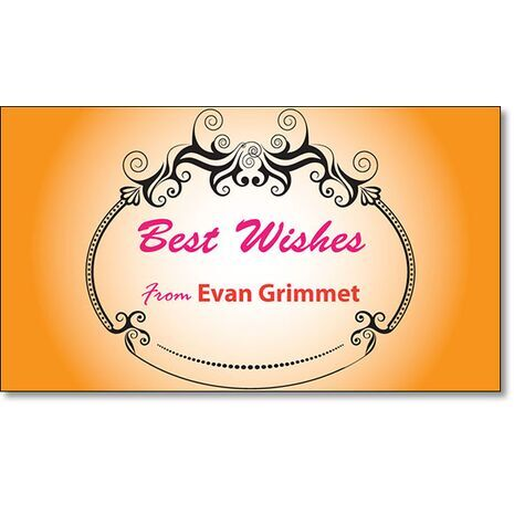 Best Wishes Gift Tag BW GT 0717