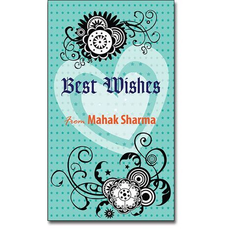 Best Wishes Gift Tag BW GT 0725