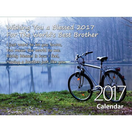Brother - Personalised Sentimental Wall Calendar