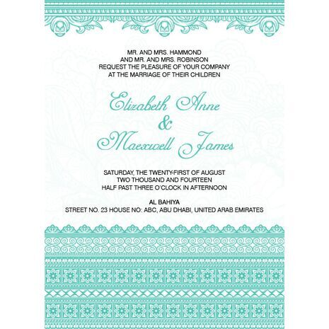 Wedding Invitation Card WIC 7814