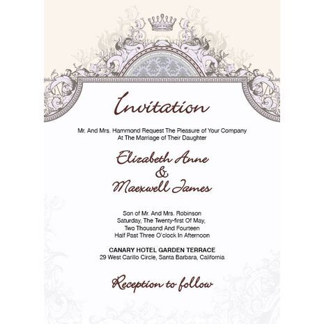 Wedding Invitation Card WIC 7828