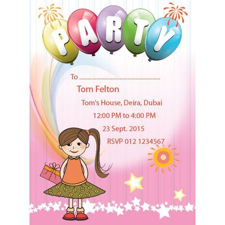 Kids Party Invitation 003