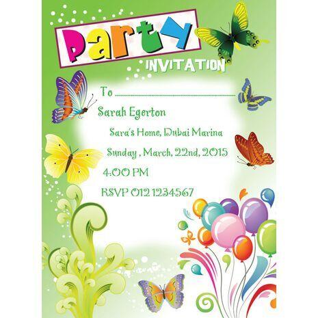 Kids Party Invitation 004