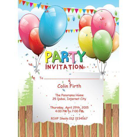 Kids Party Invitation 005