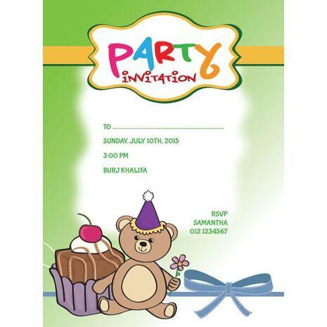 Kids Party Invitation 008