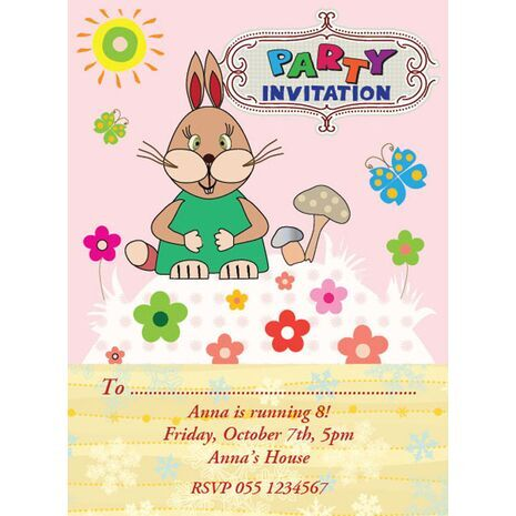 Kids Party Invitation 010