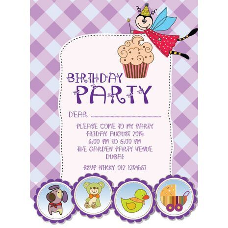 Kids Party Invitation 012