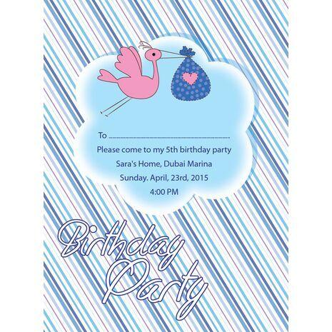 Kids Party Invitation 015