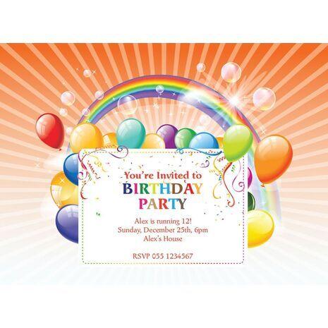 Kids Party Invitation 016