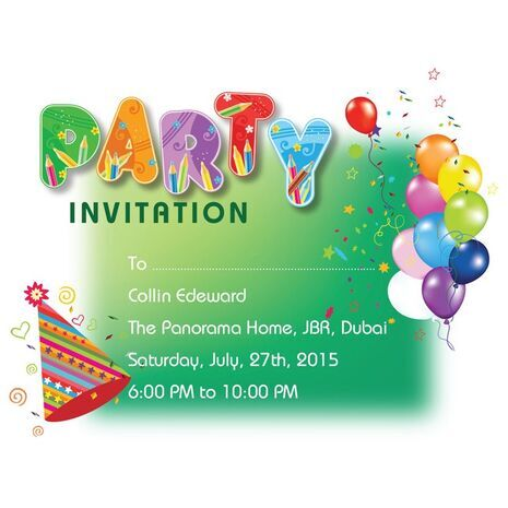 Kids Party Invitation 017