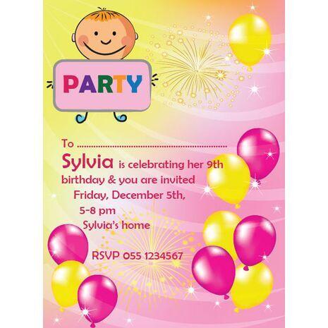 Kids Party Invitation 019