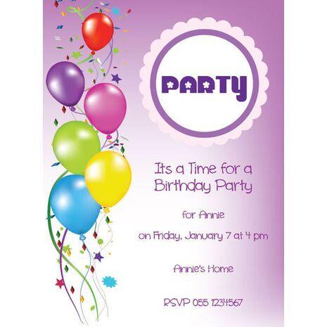 Kids Party Invitation 021