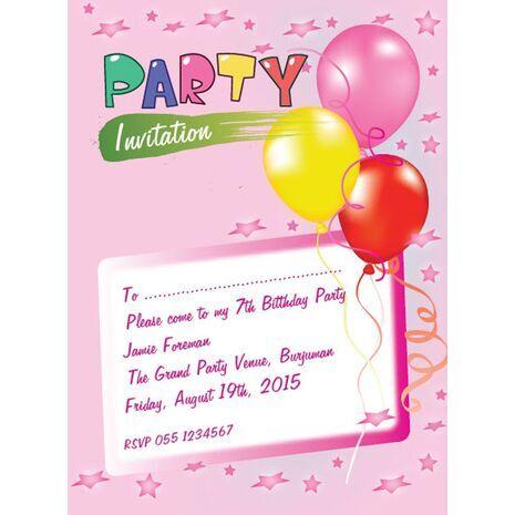 Kids Party Invitation 022