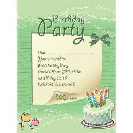 Kids Party Invitation 023