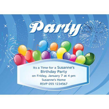 Kids Party Invitation 024