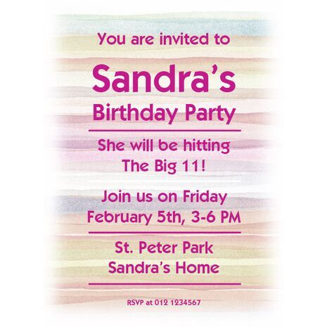 Party Invitation Card 025