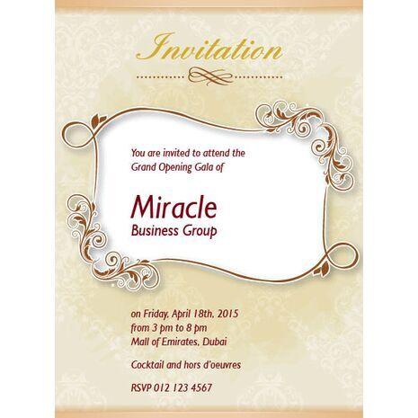 Office Inaugural Invitation OII 7114