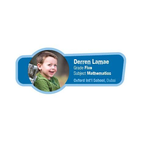 Personalised School Label 002