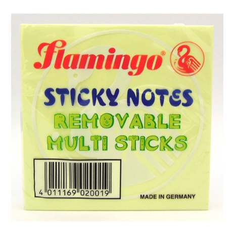 Flamingo Sticky Notes 75 x 75