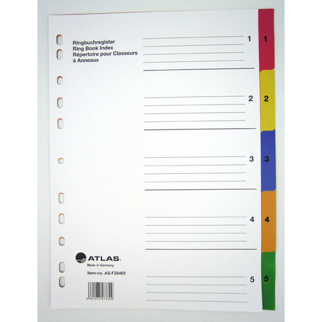 Atlas AS-F28405 ( Coloured 1 to 5 )