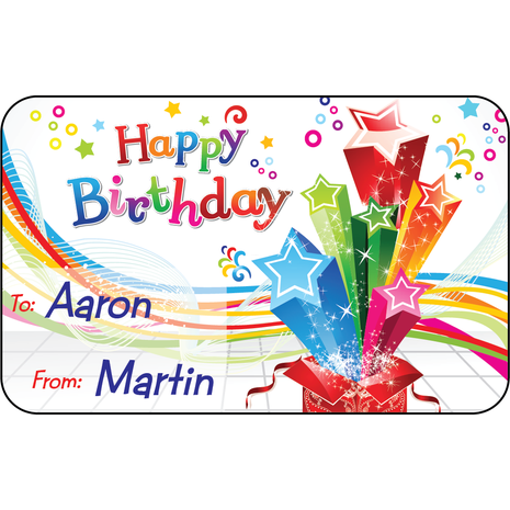 Personalised Gift Labels ST PGL 0003