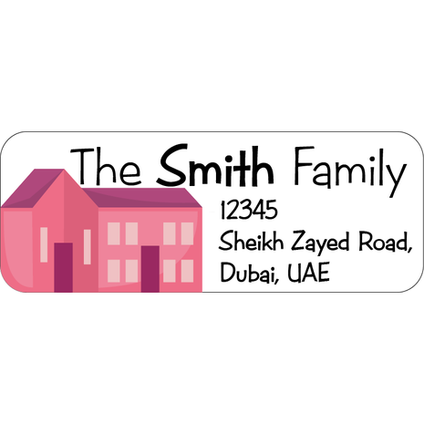 Personalised Return Address Labels ST RAL 003