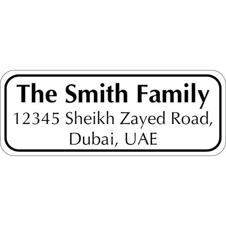Personalised Return Address Labels ST RAL 007