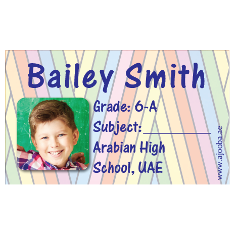 40 Personalised School Label 0244