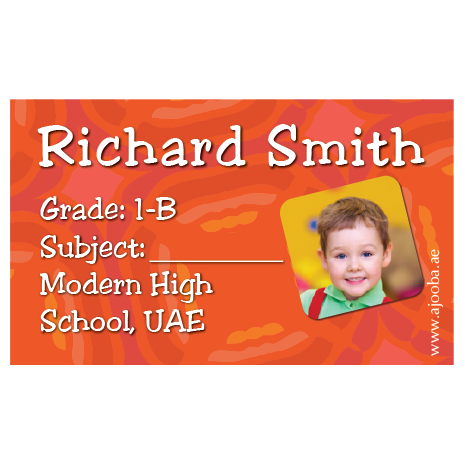 40 Personalised School Label 0254