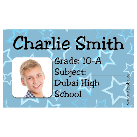 40 Personalised School Label 0276
