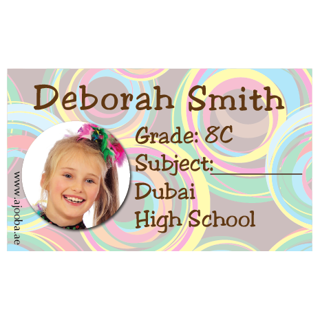 40 Personalised School Label 0279