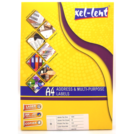 Xel-lent Address & Multi-purpose Labels 18 labels