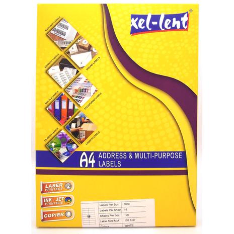 Xel-lent Address & Multi-purpose Labels 162 labels