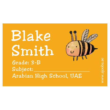 40 Personalised School Label 0320
