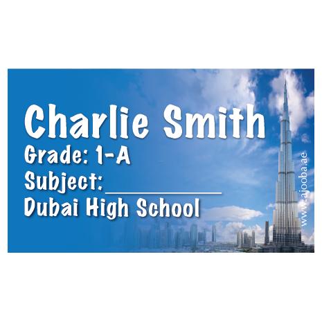 40 Personalised School Label 0348